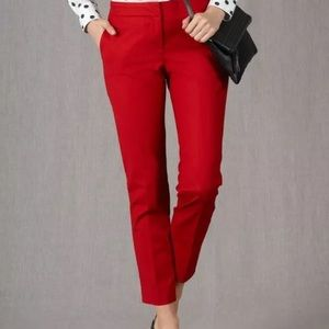 Boden Bistro cropped trouser in red size 6R EUC